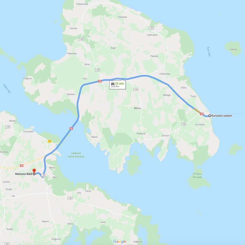Metsara-B&B-Google-Maps-location-Kuivastu-Metsara